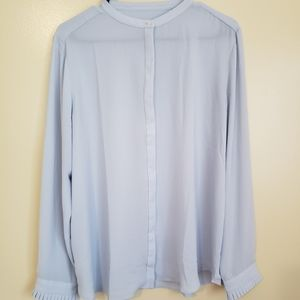 Blue Ann Taylor Loft Top
